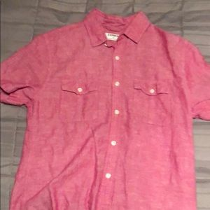 Pink causal button down shirt